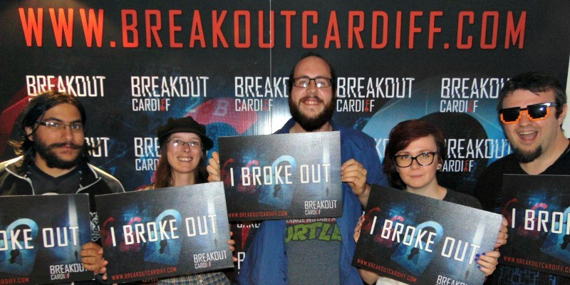 Victory pose after beating the Sabotage room at Breakout Cardiff
