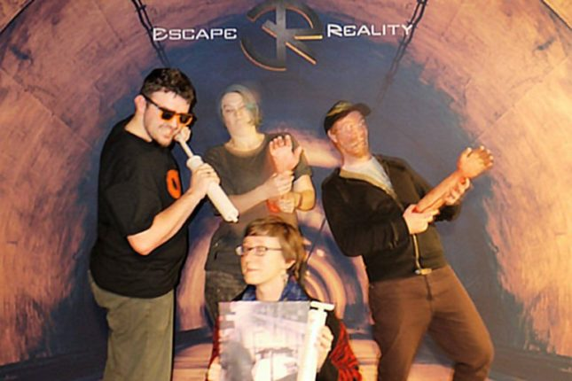 Geeks in Wales victory photo at Misery, Escape Reality Cardiff