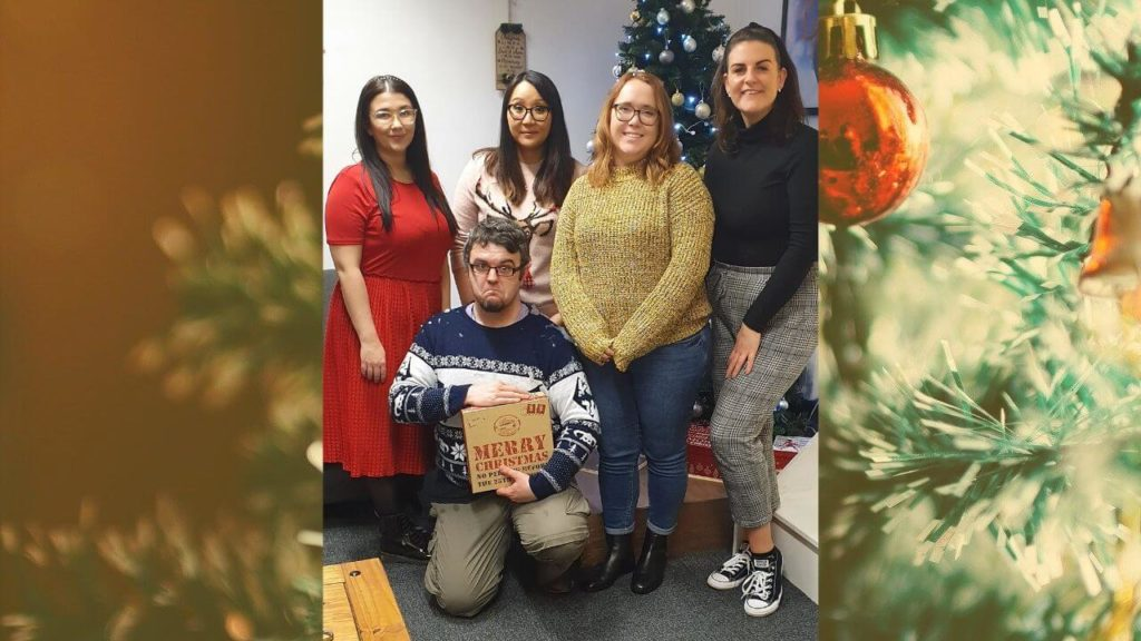 Armchair Escapist team victory photo at Christmas Chaos, Exitus Escape Rooms, Cardiff