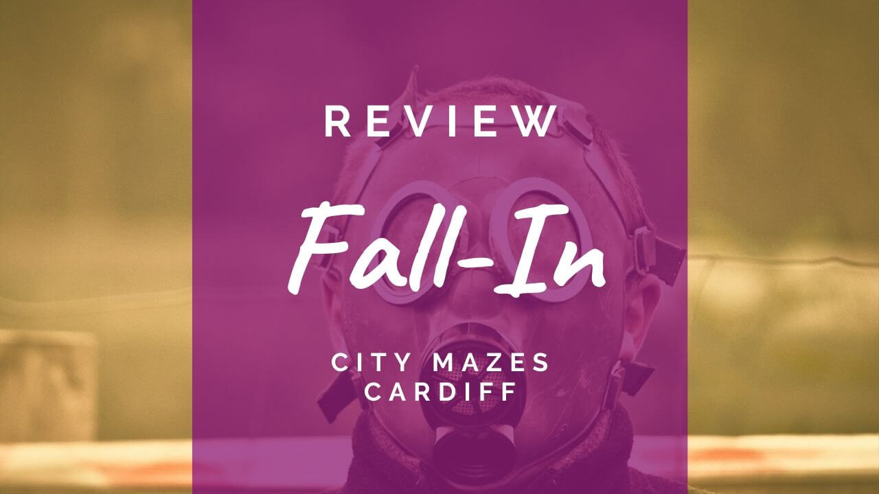 Fall-in review at City Mazes Cardiff