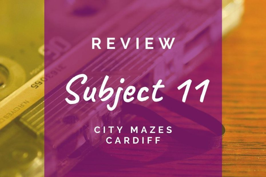 Subject 11 review at City Mazes Cardiff
