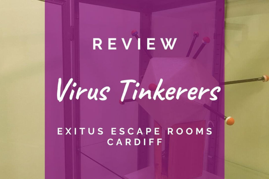 Virus Tinkerers at Exitus Escape Rooms, Cardiff - review header