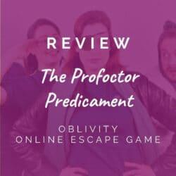 Oblivity – The Profoctor Predicament [REVIEW]