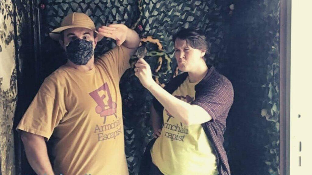 Armchair Escapist team posing for their victory at Jumunga, Escape Blackwood